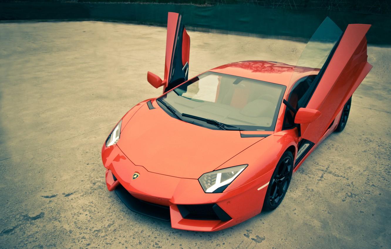 Wallpaper Lamborghini Lamborghini Red Red Open Doors
