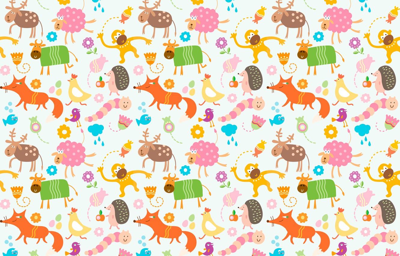 Wallpaper Animals Children Cow Chicken Deer Monkey The Worm Fox Sheep Images For Desktop Section Tekstury Download