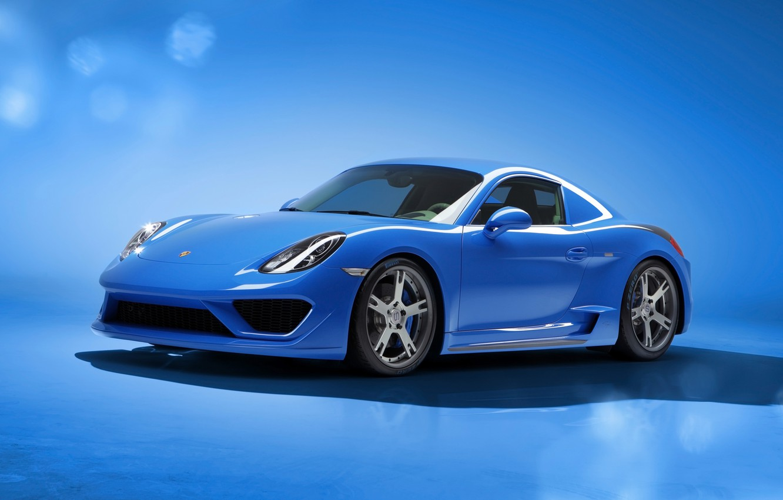Photo wallpaper Auto, Blue, Car, Porsche, Blue, Racing, Porsche Cayman, Moncenisio