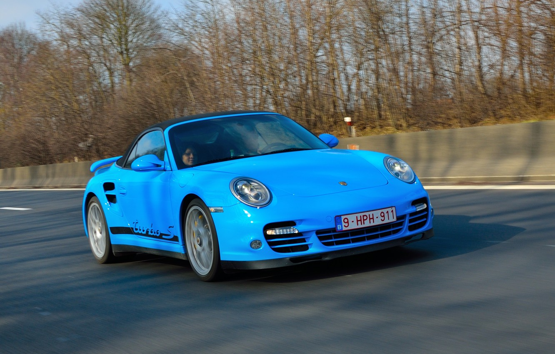 Photo wallpaper road, car, sports, passenger, Porsche 911 Turbo S, turbo sports car