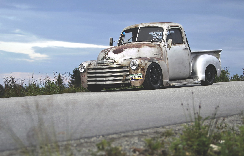Photo wallpaper truck, Chevrolet, chevrolet, pickup, hot rod, pickup, rat, hotrod