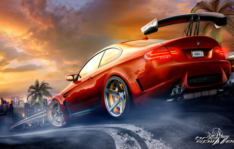 Photo wallpaper figure, photoshop, bmw, BMW, e92