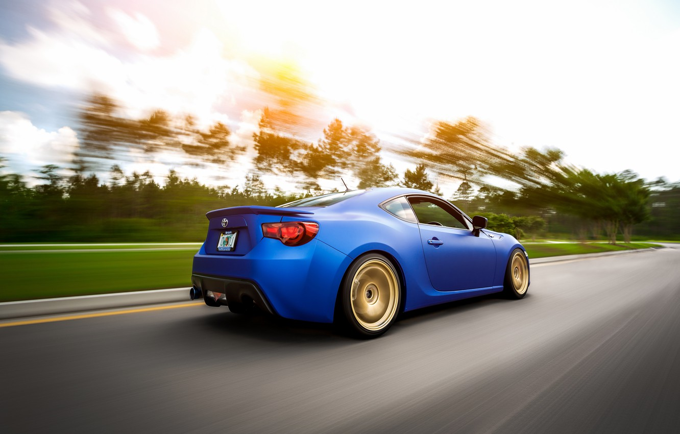 Photo wallpaper car, in motion, Toyota, rechange, hq Wallpapers, toyota gt86