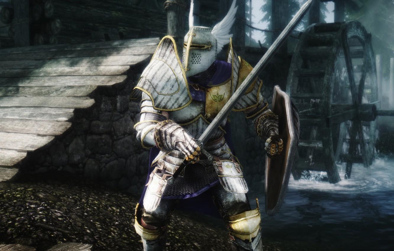 Wallpaper Hero, Warrior, Skyrim, The Elder Scrolls V: Skyrim