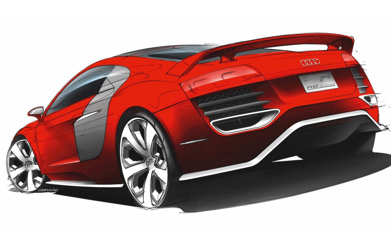 Photo wallpaper Audi, coupe, R8
