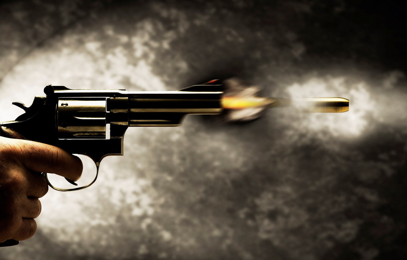 Photo wallpaper 149, shot, bullet, Gun