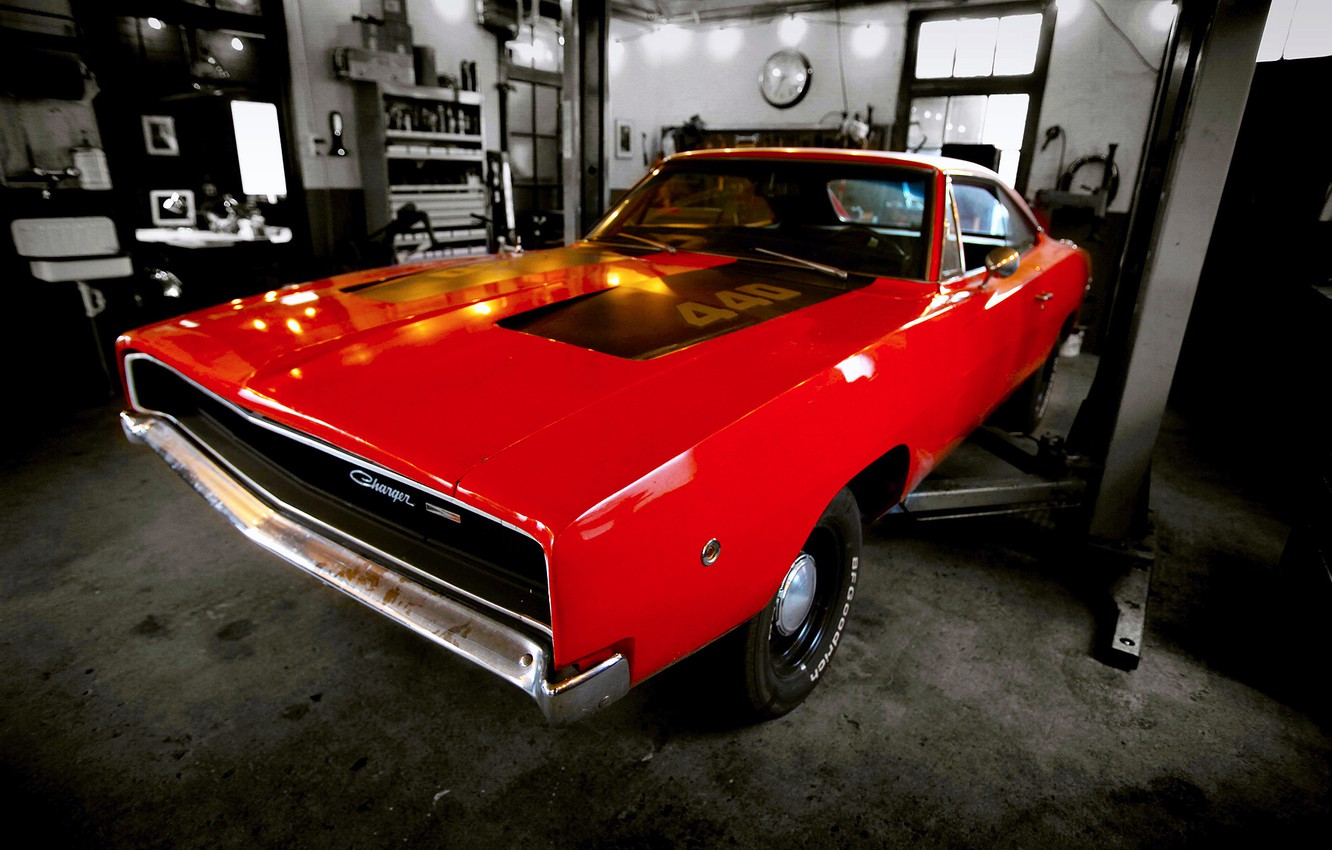 Photo wallpaper car, dodge, muscle, charger