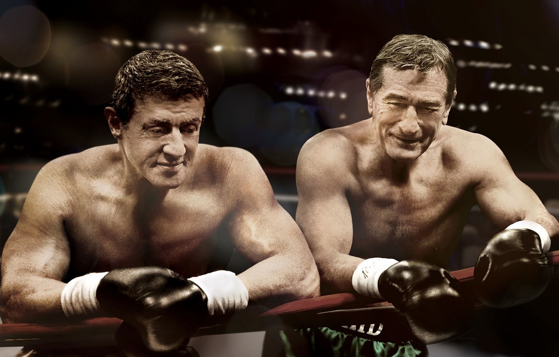 Photo wallpaper Boxing, gloves, the ring, Sylvester Stallone, Sylvester Stallone, boxers, Robert De Niro, Grudge match, Robert …
