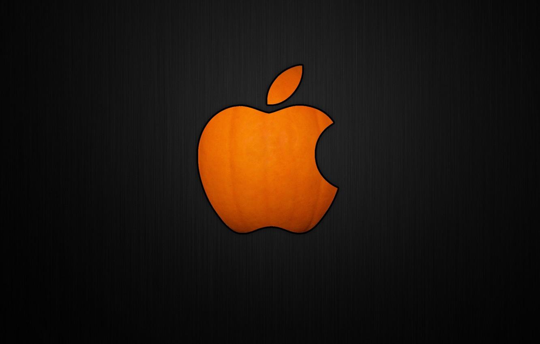 Photo wallpaper Apple, Halloween, pumpkin, Halloween, Apple Pumpkin