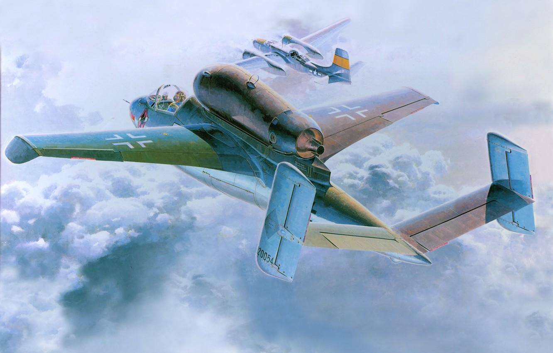 Photo wallpaper aviation, the plane, German, He-162A-2