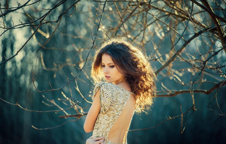 Photo wallpaper look, girl, pose, sweetheart, dress, brunette, girl, brown hair, beautiful, cutie, dress, brown hair, eyes, …