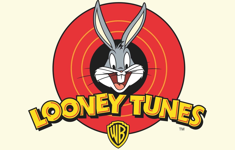Photo wallpaper Rabbit, White, Logo, Cartoon, Looney Tunes, Bugs Bunny