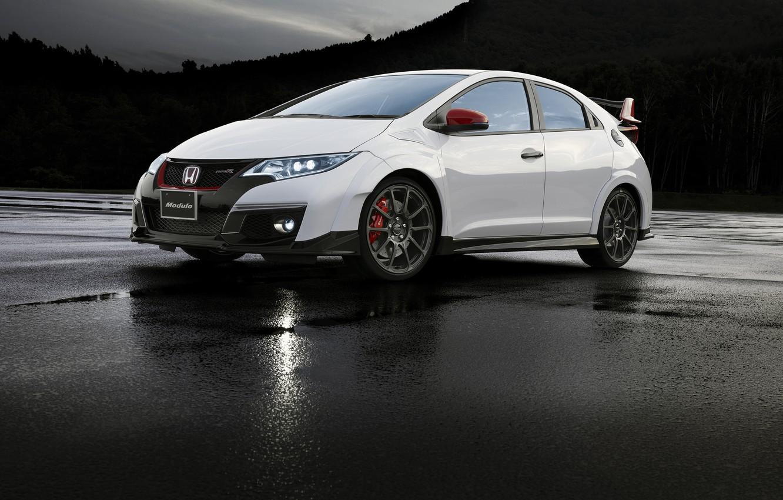 Photo wallpaper white, Honda, Honda, Civic, civici, Type R, Modulo