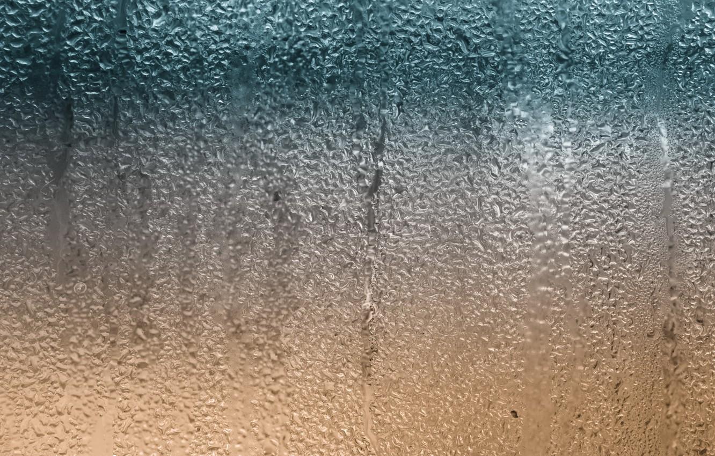 Photo wallpaper glass, water, drops