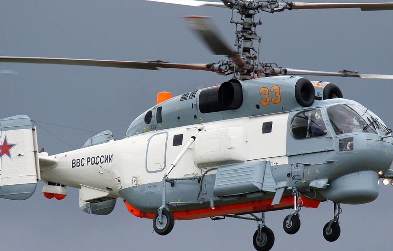 Photo wallpaper height, flight, BBC, Russia, Helicopter, Ka-27