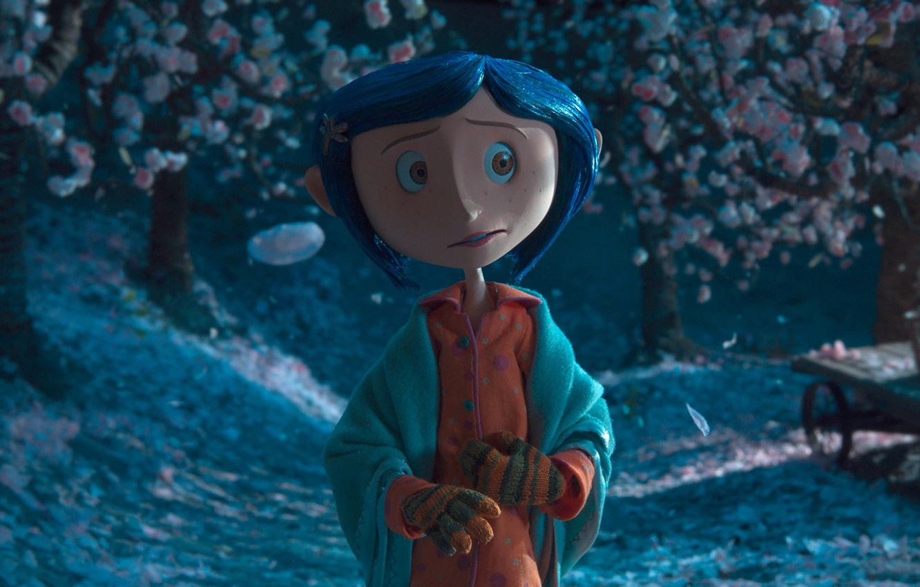Wallpaper Night Cartoon Garden Girl Scary Story Coraline Coraline Coralyn Images For Desktop Section Filmy Download