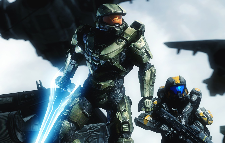 Wallpaper Soldiers Helmet Armor Master Chief Halo 5 Guardians