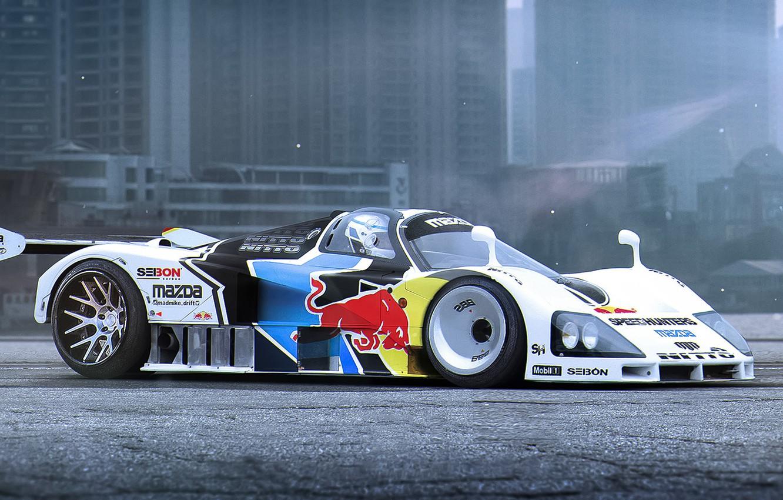 Photo wallpaper Mazda, Car, Race, Day, Tuning, Future, Track, by Khyzyl Saleem, 787b