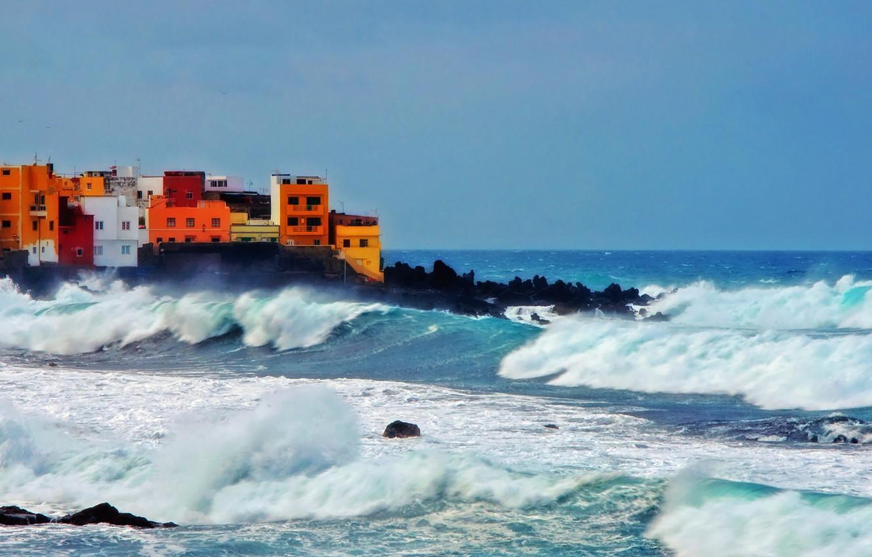 Wallpaper Waves Sea Ocean Rocks Village Troubled Sea