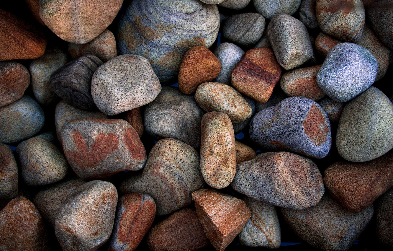 Photo wallpaper macro, pebbles, stones, stone, pebbles