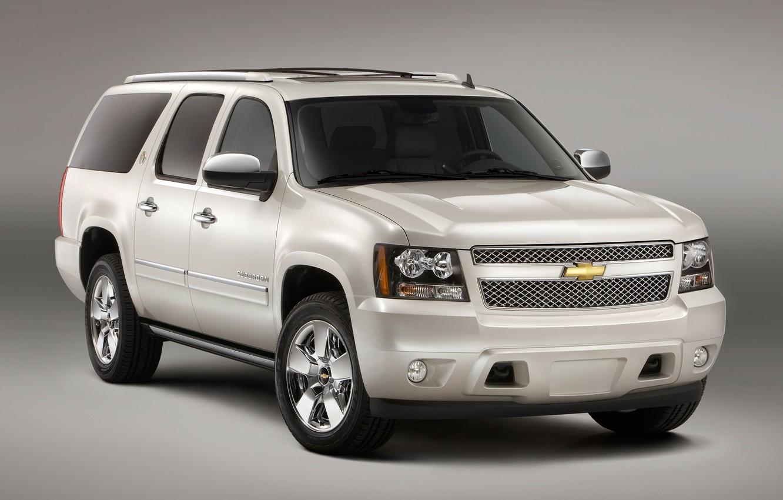 Photo wallpaper white, Chevrolet, Suburban