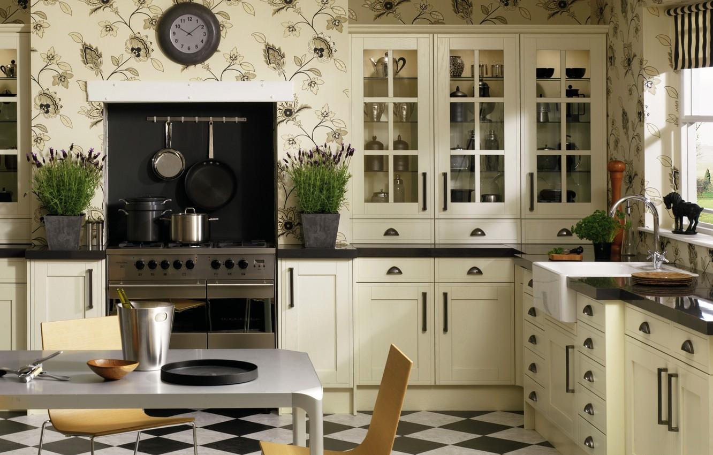 Photo wallpaper design, style, watch, interior, kitchen, plate, headsets