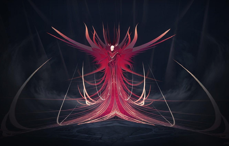 Photo wallpaper red, being, art, dungeon