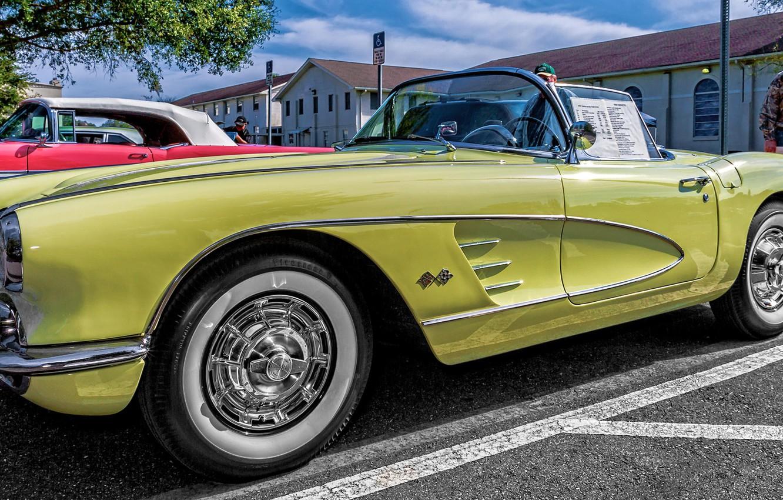 Photo wallpaper Corvette, Chevrolet, classic, Chevrolet Corvette, 1958 Chevrolet Corvette