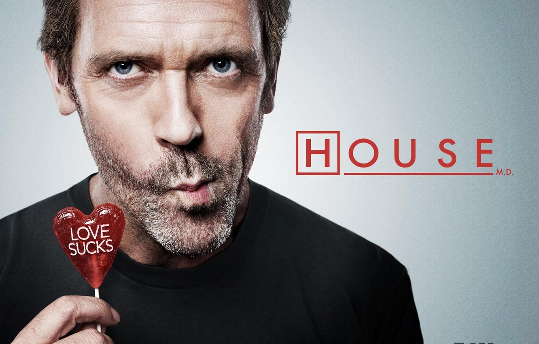 Photo wallpaper House, Lollipop, Dr. house, Hugh Laurie