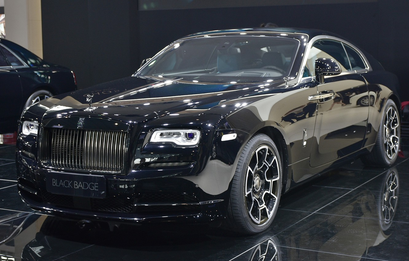 Photo wallpaper Rolls-Royce, the dealership, Rolls-Royce Wraith Black Badge