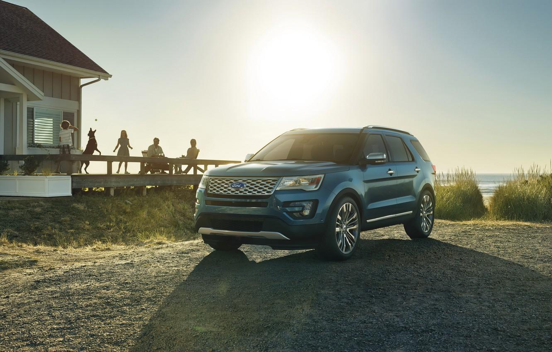 Photo wallpaper Ford, Ford, Explorer, Explorer, 2015, U502, Platinum