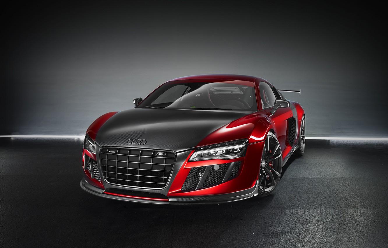 Photo wallpaper red, Audi, Audi, supercar, ABBOT