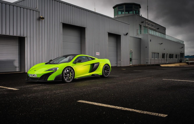 Photo wallpaper McLaren, Green, 2015, 675LT