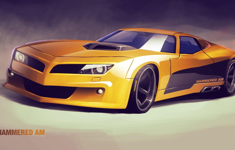 Photo wallpaper auto, car, art, concept car, hammered am
