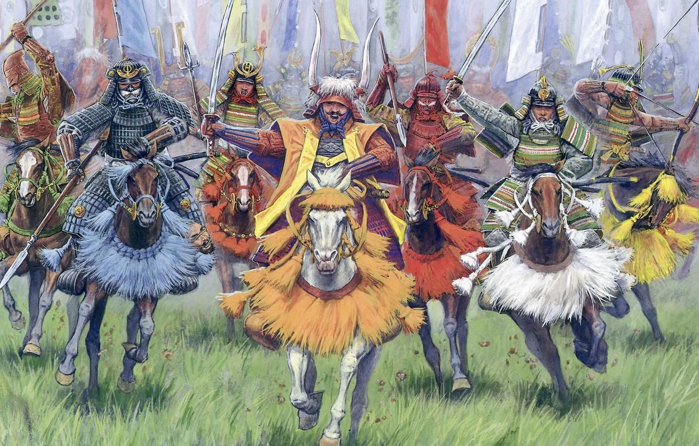 Photo wallpaper war, banner, samurai, XVI - XVII centuries., Horse