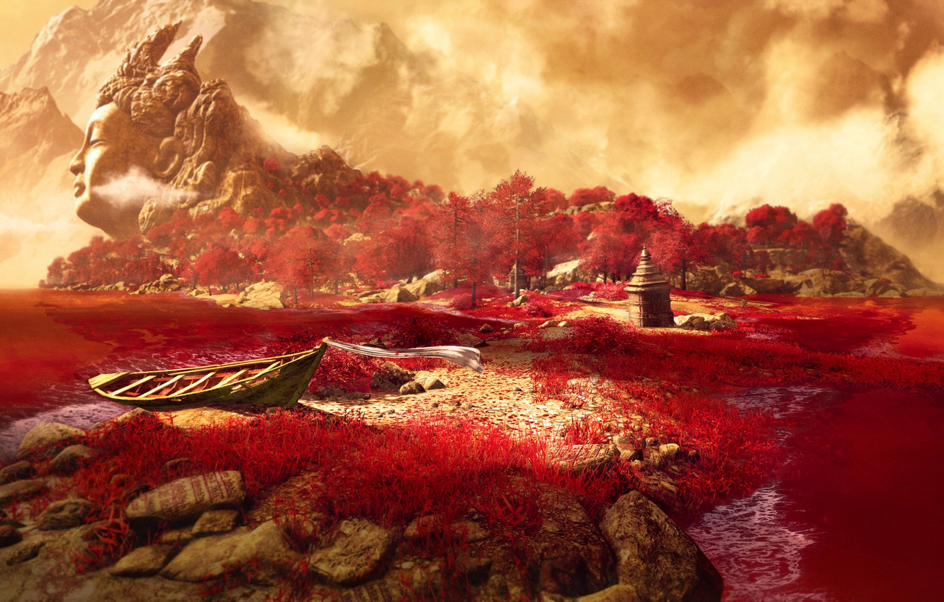 Wallpaper Grass Mountains Lake Far Cry 4 Kyrat Images For