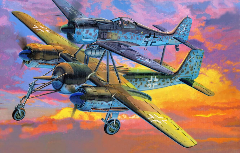 Photo wallpaper Fw-190-Mistel, Focke Wulf, The Focke-Wulf