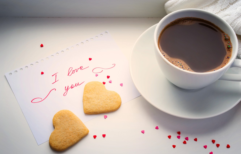 Photo wallpaper heart, coffee, Cup, love, heart, beans, coffee