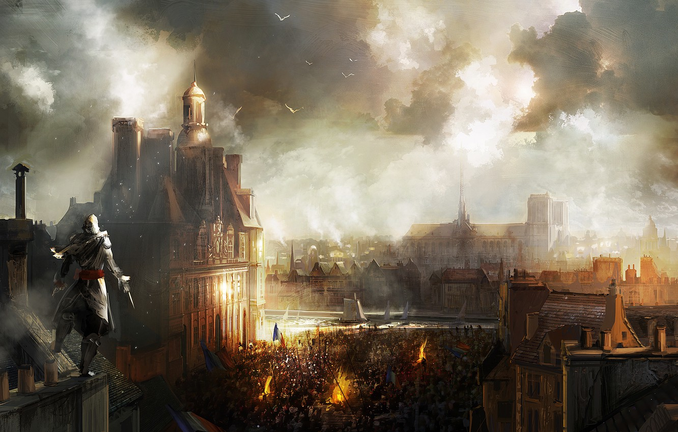 Wallpaper The City Paris Art Assassin S Creed Unity Images For