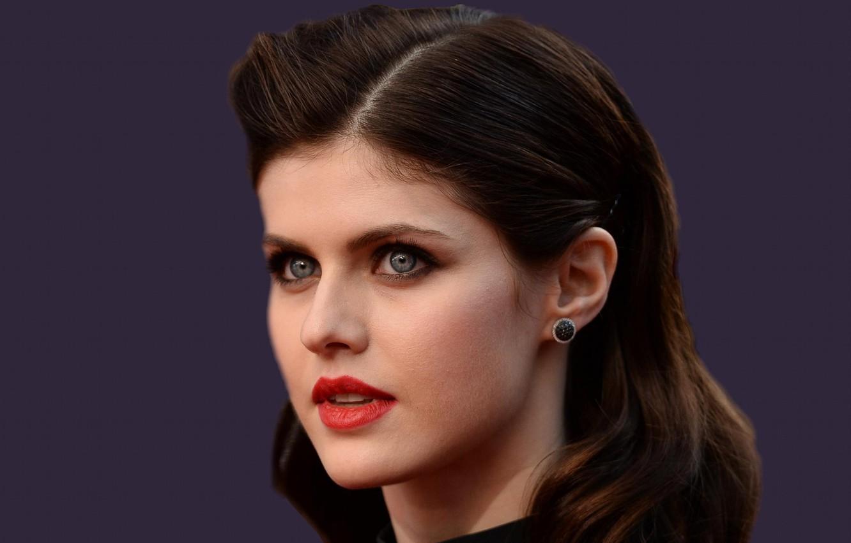 Wallpaper Girl Model Actress Brunette Blue Eyed