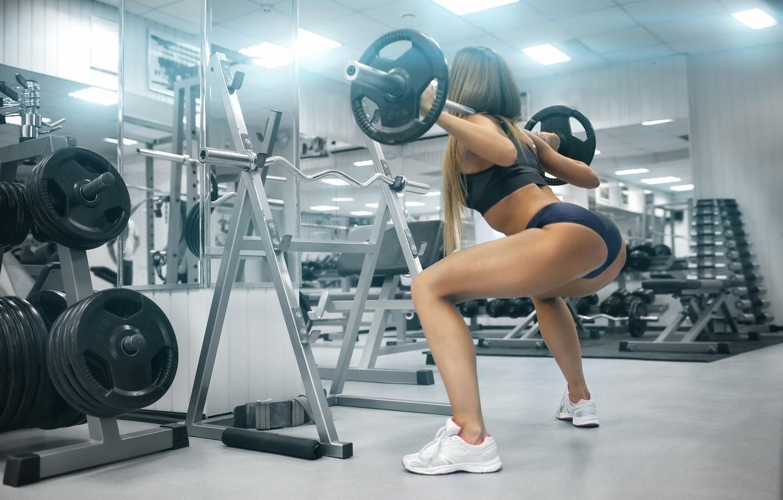 Photo wallpaper legs, workout, fitness, gym, buttocks, training, weights, hard work