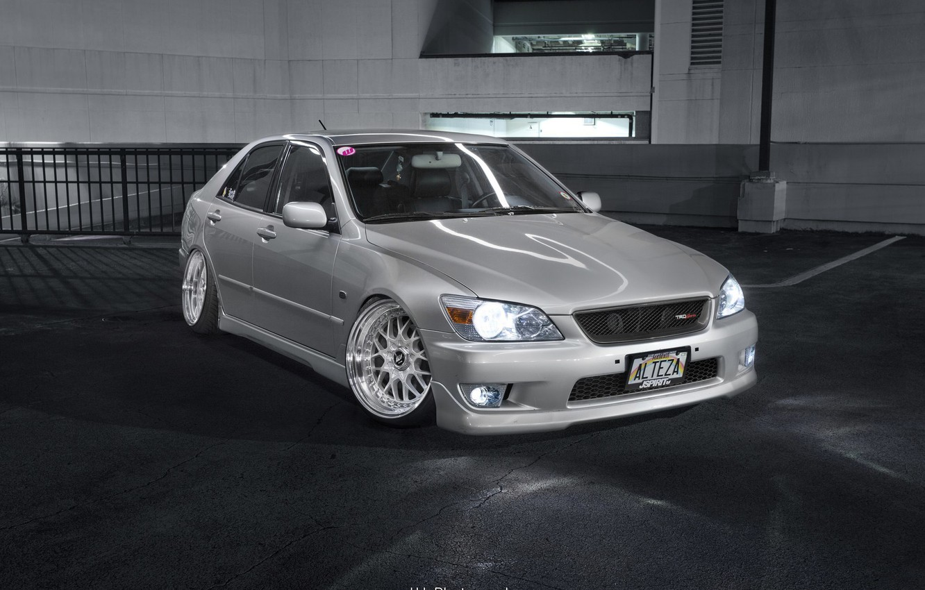 Photo wallpaper turbo, lexus, wheels, japan, toyota, jdm, tuning, Lexus, front, Toyota, face, low, height, is200, stance, …