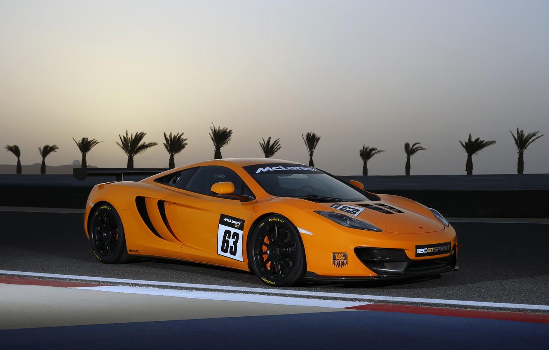 Photo wallpaper McLaren, supercar, MP4-12C, sprint