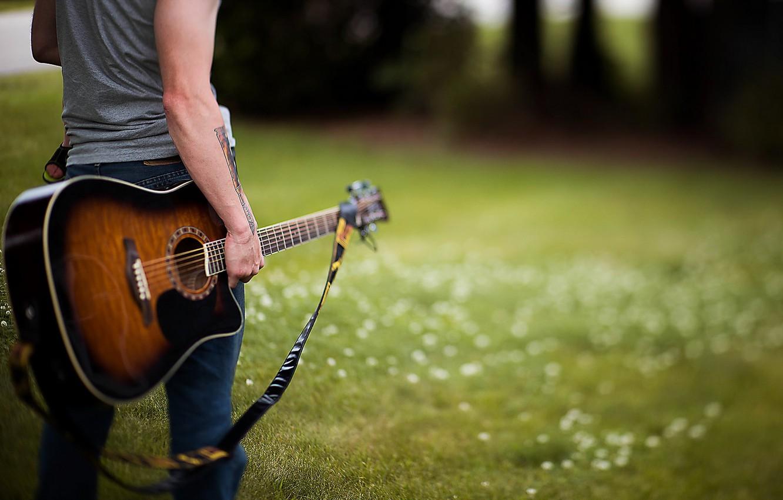 Photo wallpaper music, guitar, guy