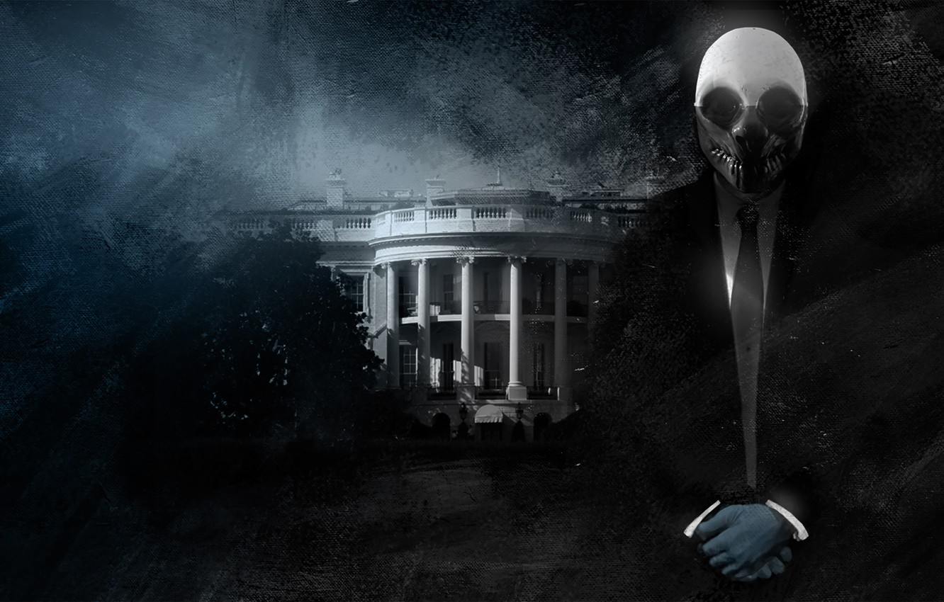 Photo wallpaper Mask, Wolf, The white house, Overkill Software, PAYDAY 2, Wolfe, the White House