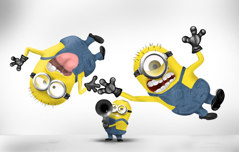 Photo wallpaper background, Wallpaper, cartoon, fun, minions, Despicable me