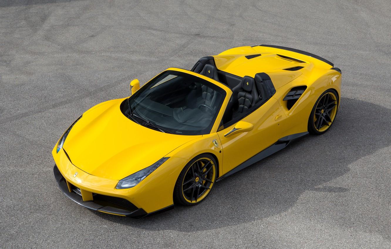 Photo wallpaper car, auto, tuning, Ferrari, yellow, nice, Spider, Rosso, Novitec, 488, novitek