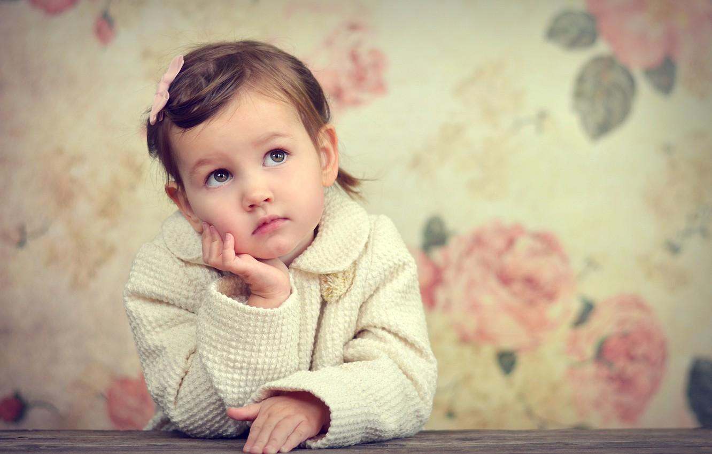Photo wallpaper sadness, look, background, mood, widescreen, Wallpaper, girl, wallpaper, girl, child, widescreen, background, mood, sadness, child, …