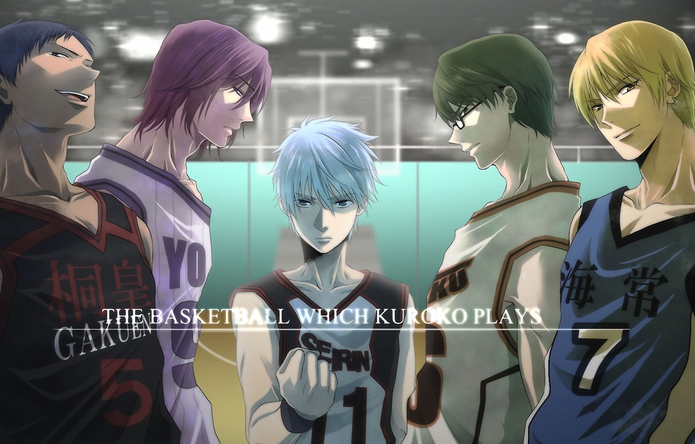 Photo wallpaper sport, glasses, team, shackle, Kise Ryouta, Kuroko Tetsuya, kuroko's basketball, Kuroko from Basket, Aomine Daiki, …