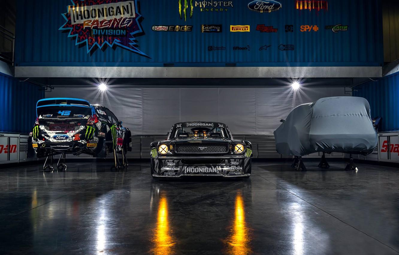 Photo wallpaper Mustang, Ford, Monster, Front, 1965, RTR, Studio, Block, Ken, Gymkhana, Energy, Hoonicorn, SEVEN, 845 hp